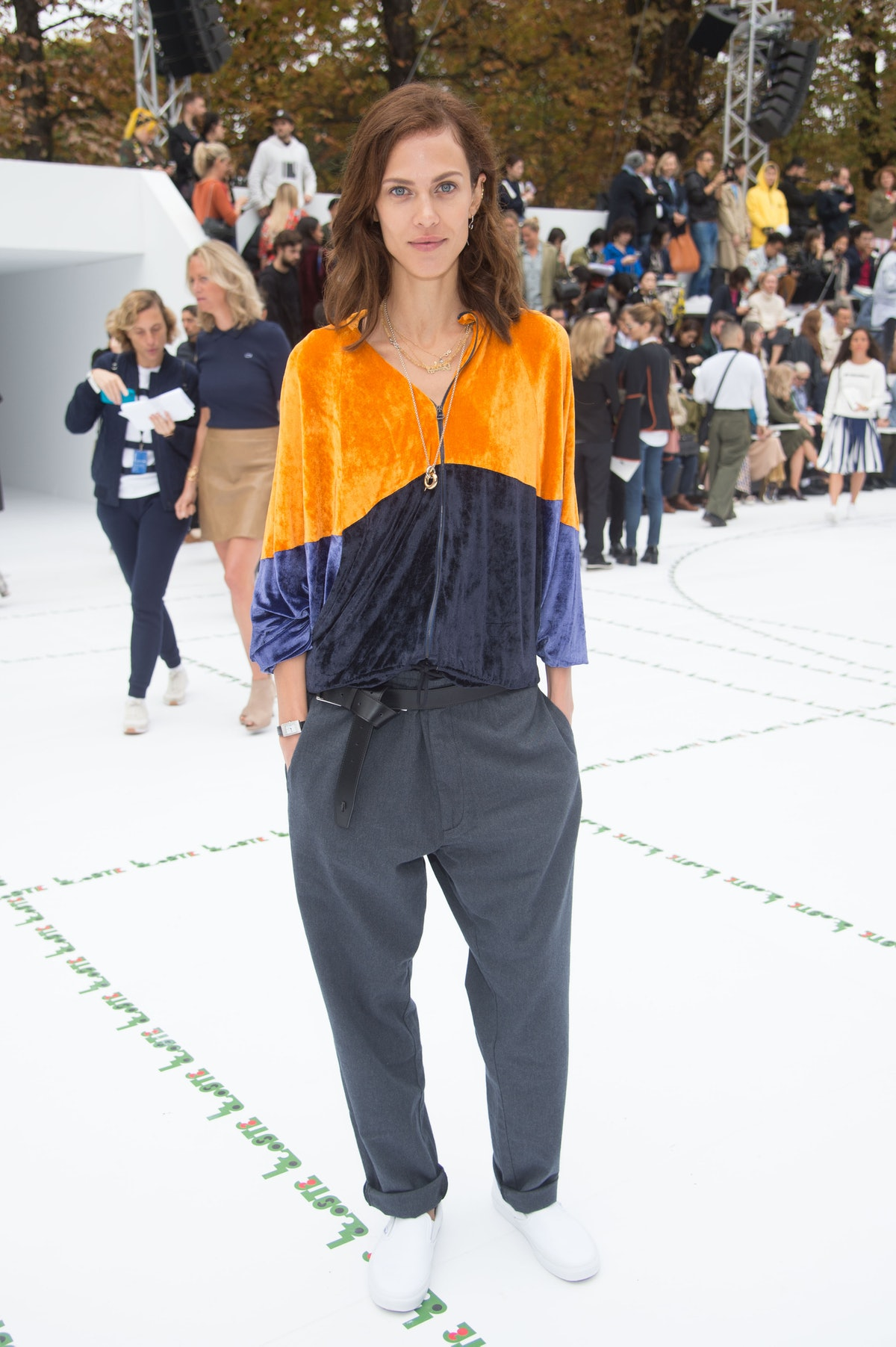 Lacoste : Front Row - Paris Fashion Week Womenswear Spring/Summer 2018
