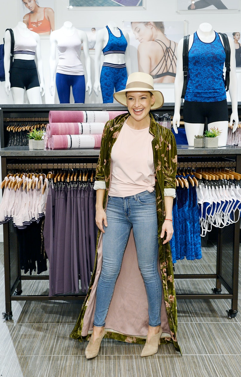 Kate Hudson Visits Fabletics At Del Amo Fashion Center