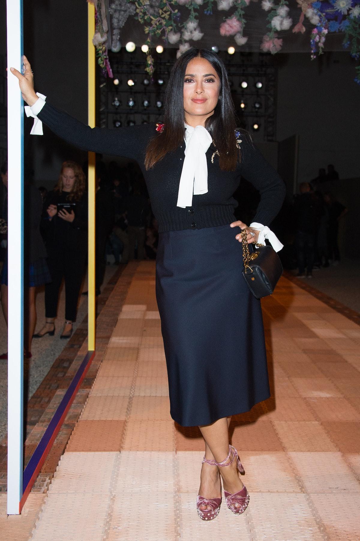 Alexander McQueen : Front Row - Paris Fashion Week Womenswear Spring/Summer 2018
