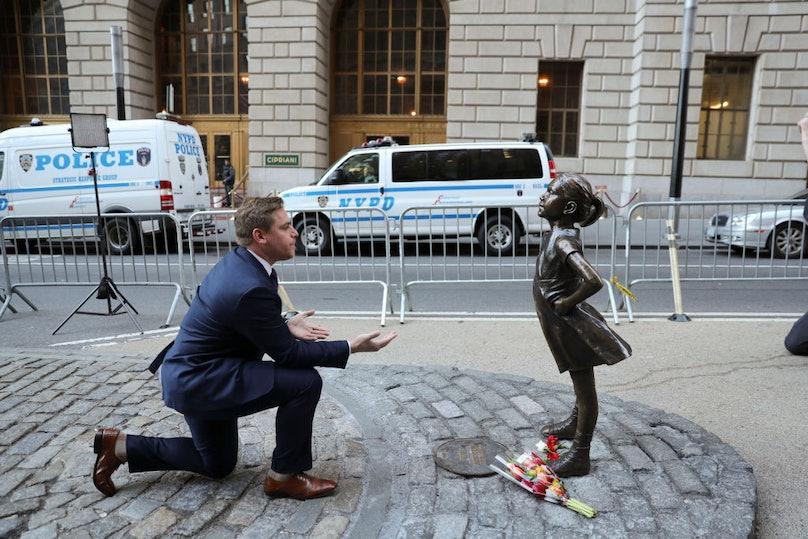 "U.S.-NEW YORK-WALL STREET-""FEARLESS GIRL"" STATUE"