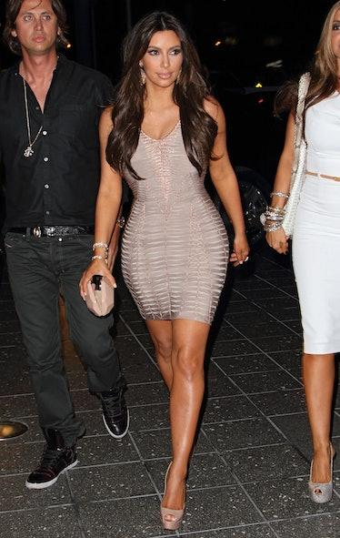 Kim Kardashian Arrives At Zuma Japanese Restaurant