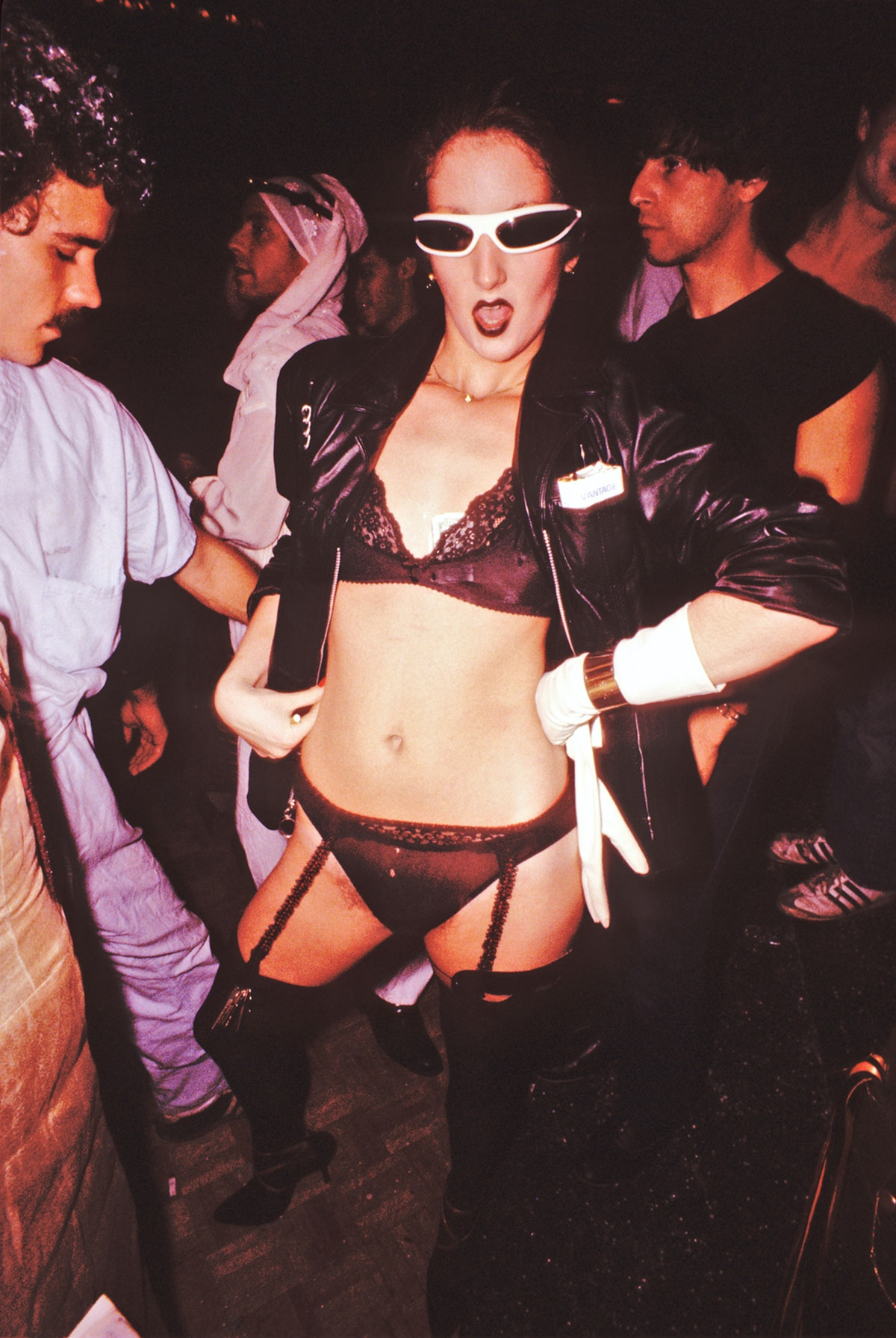 A Woman Dances At A Studio 54 Halloween Party