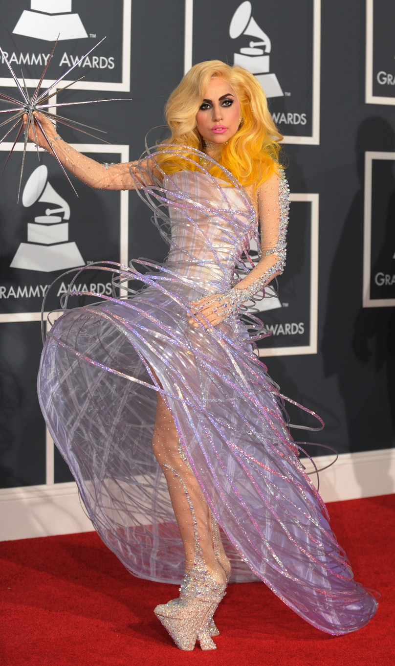 Lady Gaga arrives on the red carpet at t