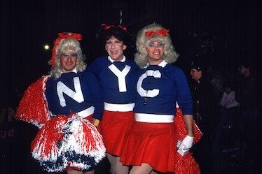 Cheerleaders in the Halloween Parade