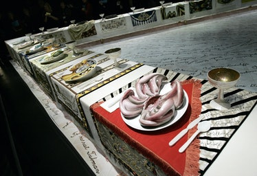 """Detail of """"The Dinner Party"""" (1979) by A"""