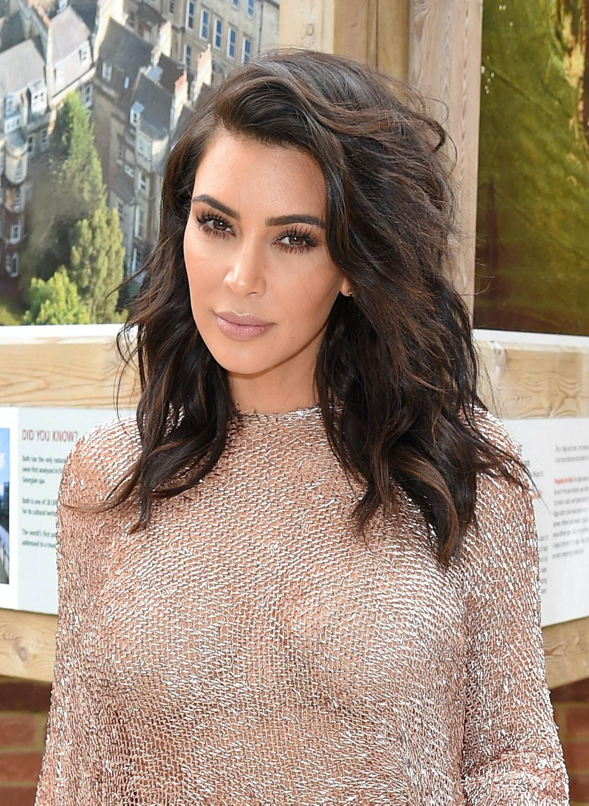 Kim Kardashian And Kanye West In London