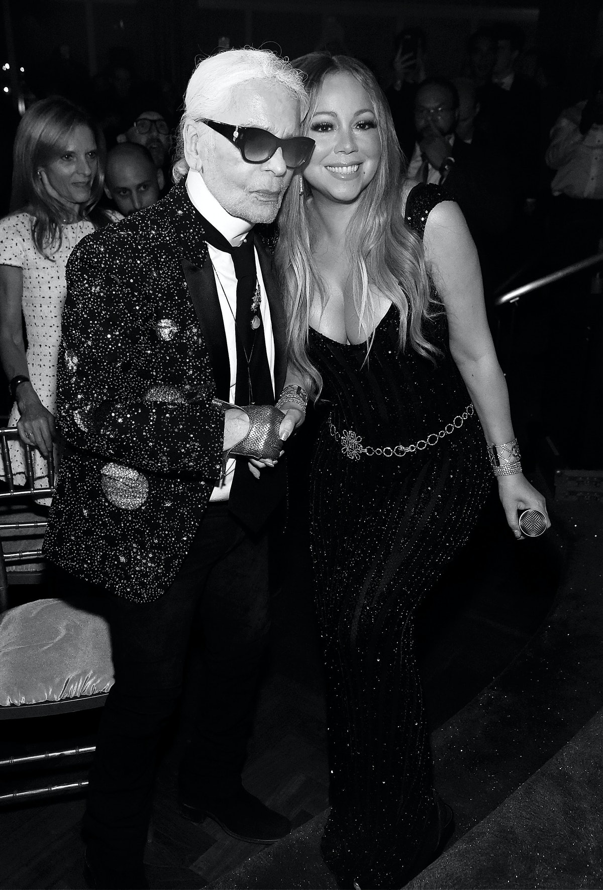 V Magazine's Intimate Dinner In Honor Of Karl Lagerfeld With A Special Performance By Mariah Carey A...