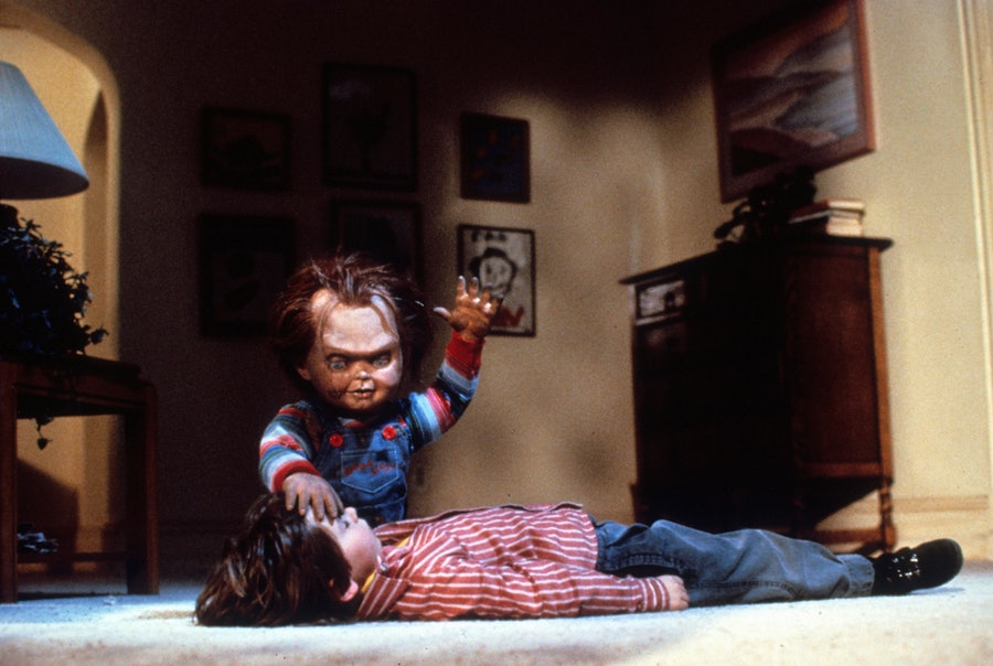 Child actor with Chucky In 'Child's Play'