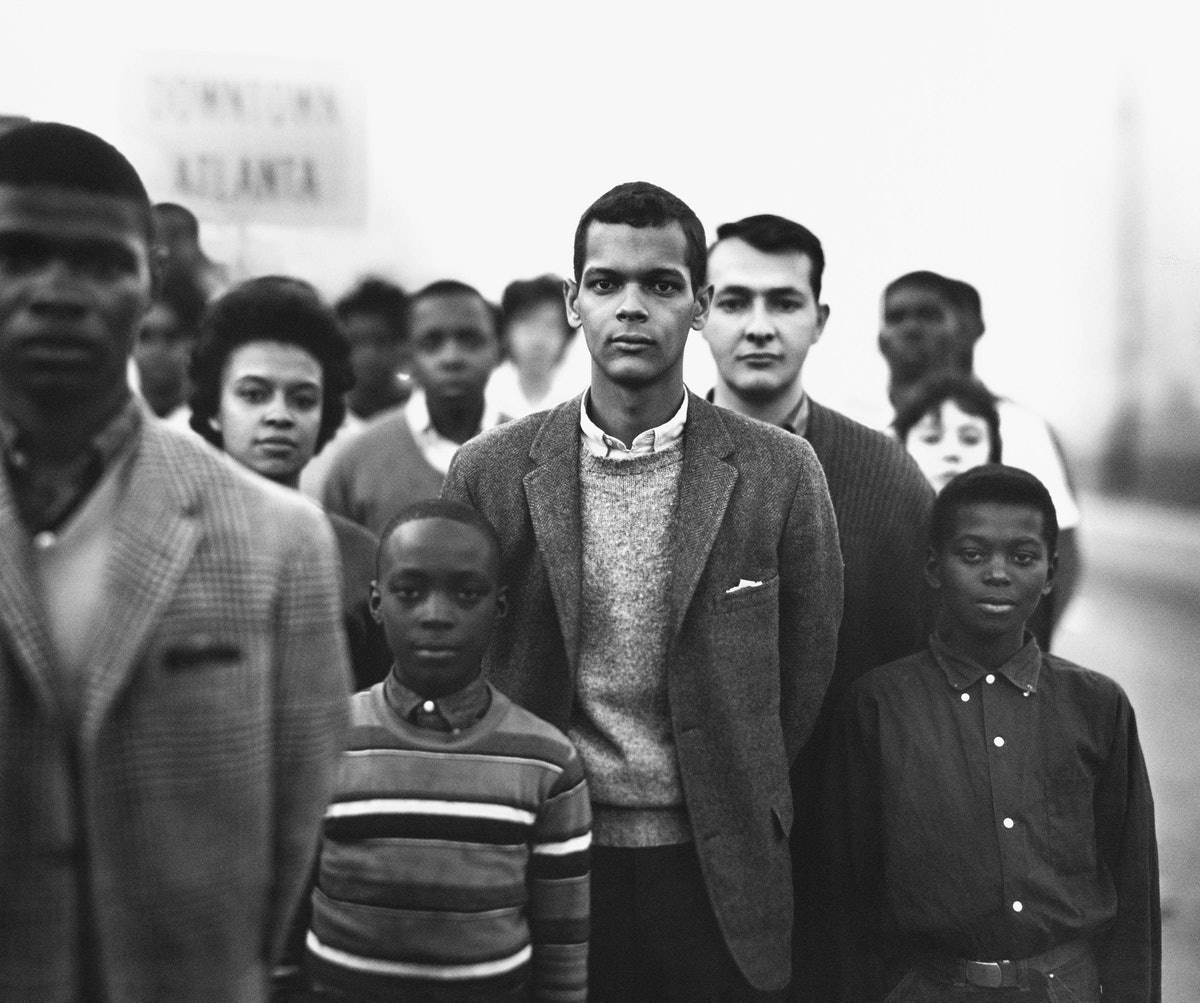 Student Non-violent Coordinating Committee (SNCC),led by Julian Bond, Atlanta, Georgia, March 23, 1963