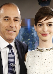 Anne Hathaway and Matt Lauer During 'Today' 2012 Interview