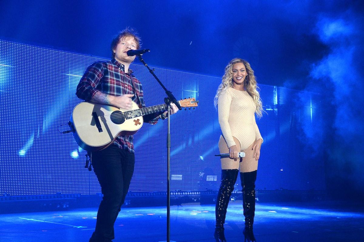 Ed Sheeran and Beyoncé
