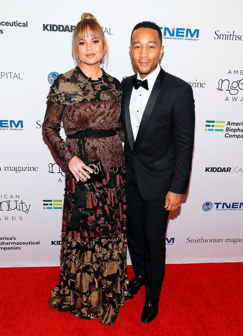 Chrissy Teigen and John Legend Walk Red Carpet After Announcing Second Pregnancy