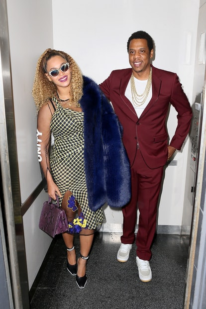 Jay-Z and Beyonce leaving the movies on his birthday