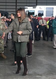 U.S. First Lady Melania Trump Visits Hurricane Victims in Corpus Christi, Texas