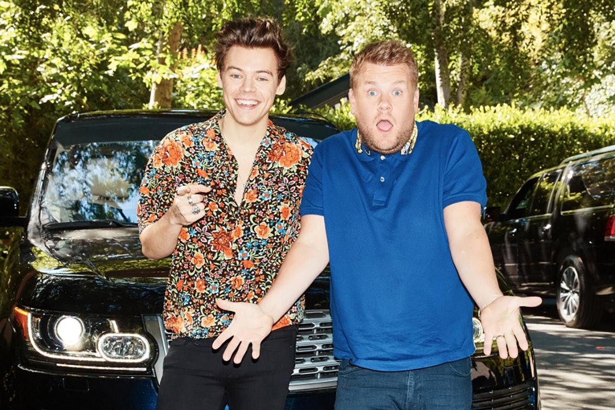 Harry Styles Kisses James Corden in Christmas ''Carpool Karaoke''
