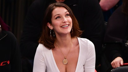Bella Hadid Was the Most Amped Fan at the Knicks vs. Lakers Game Last Night