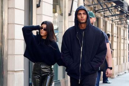 Younes Bendjima and Kourtney Kardashian in Paris