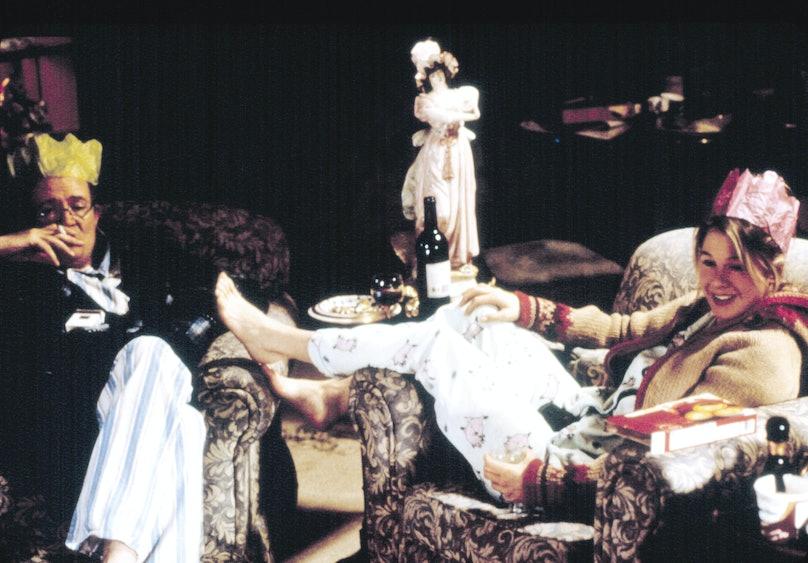 BRIDGET JONES'S DIARY, Renee Zellweger, Jim Broadbent, 2001.