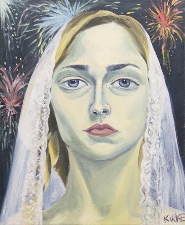 Kirke, Jemima, Self-portrait as a Bride #1, 2017, Oil on canvas, 22 x 18 inches.jpg