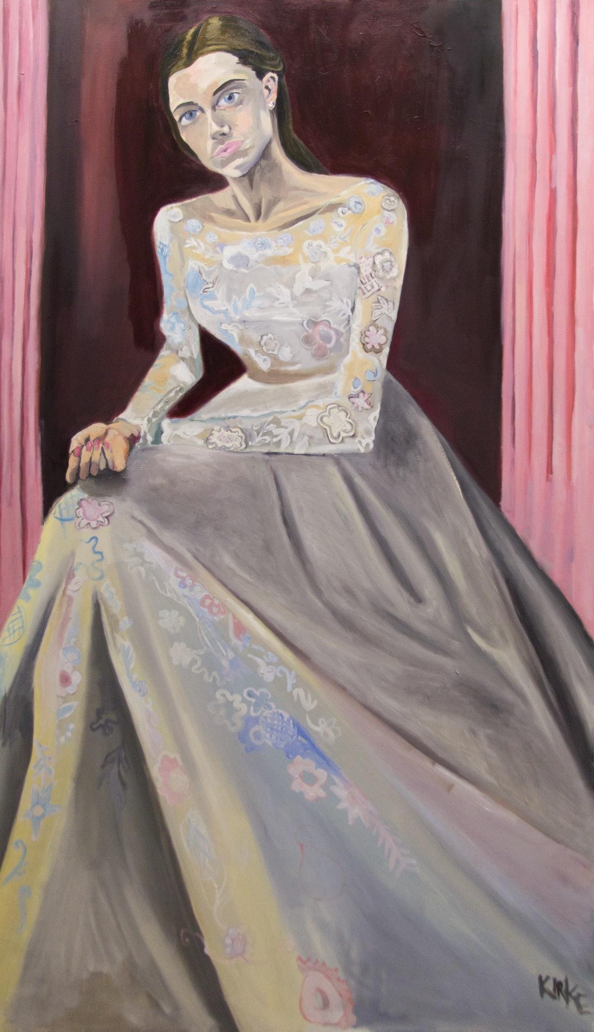 Kirke, Jemima, Allison in Her Wedding Dress, 2017, Oil on canvas, 68 x 40 inches.jpg