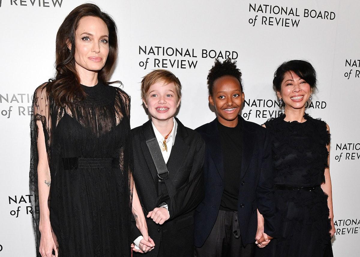 Angelina Jolie and Injured Shiloh Walks Red Carpet at NBR Awards 2018