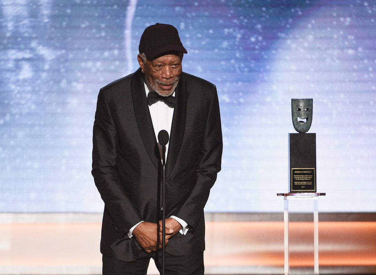 Who Was Morgan Freeman Calling Out During His SAG Life Achievement Award Speech?
