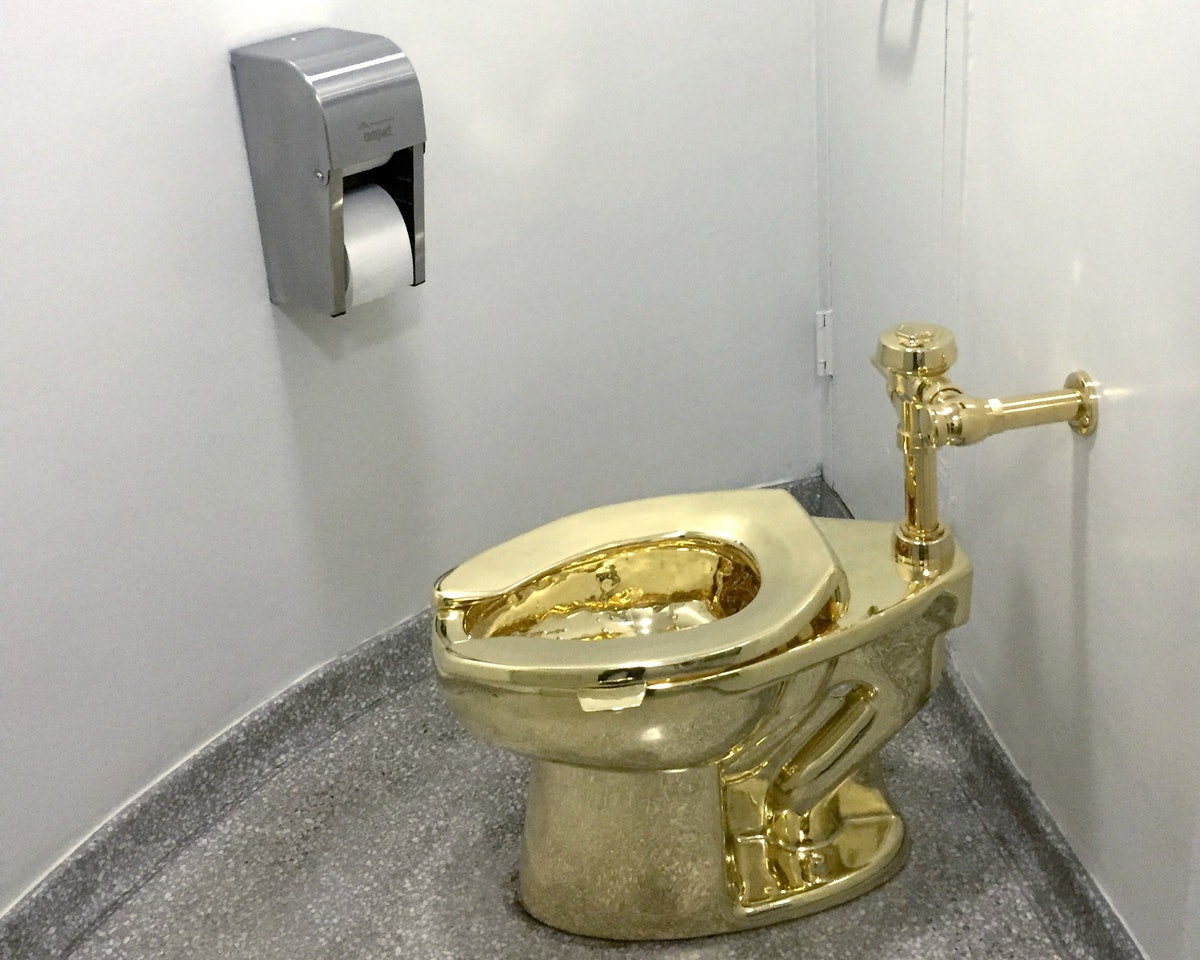 The Trumps asked to borrow a Van Gogh for the White House. The Guggenheim offered an 18K gold toilet...
