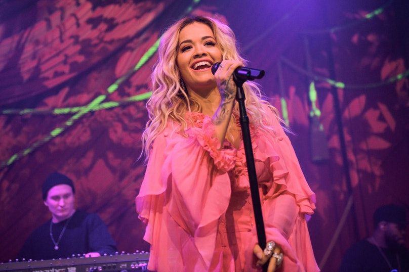 """Rita Ora & Absolut Lime Kick-Off Grammy Awards Weekend With First Live Performance Of New Song, """"Proud"""" At the Absolut Open Mic Project x Spotify Event In NYC"""