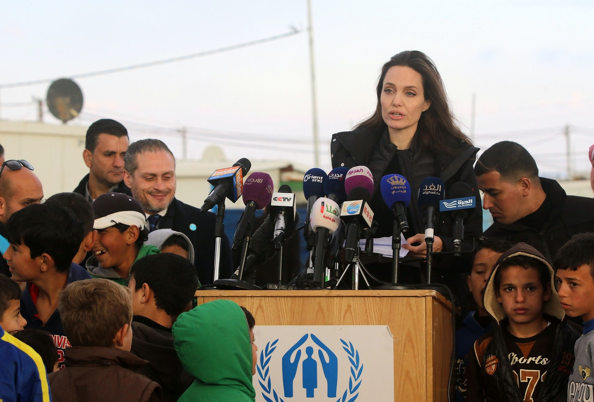Angelina Jolie Takes Daughters Shiloh, Zahara to Visit Refugee Camp