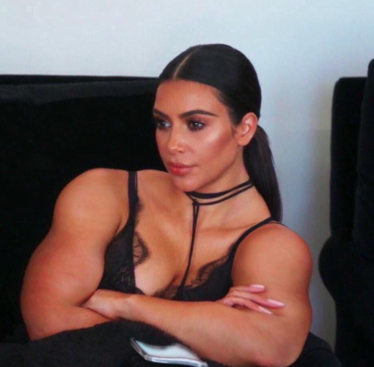 Kim Kardashian Muscles