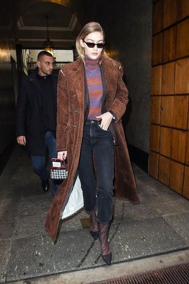 Model Gigi Hadid seen in Milan