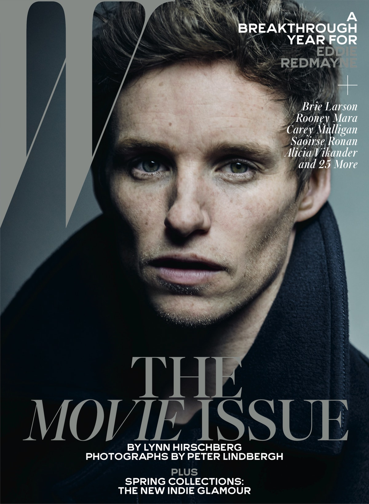 Redmayne wears Burberry peacoat and T-shirt. Grooming: Burberry.