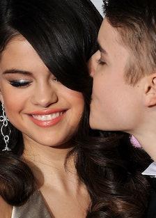 Singers Selena Gomez and Justin Bieber