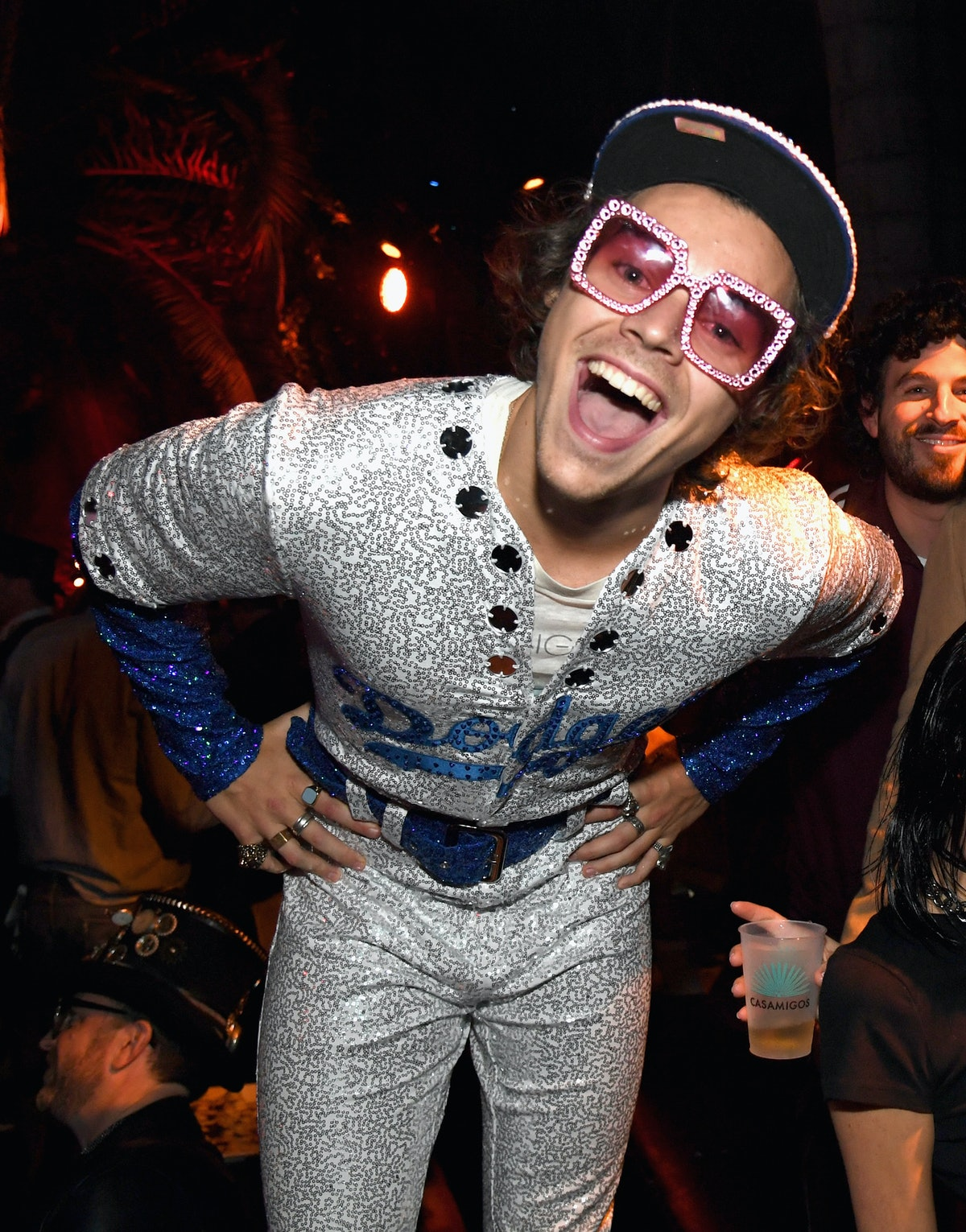 harry styles at halloween party