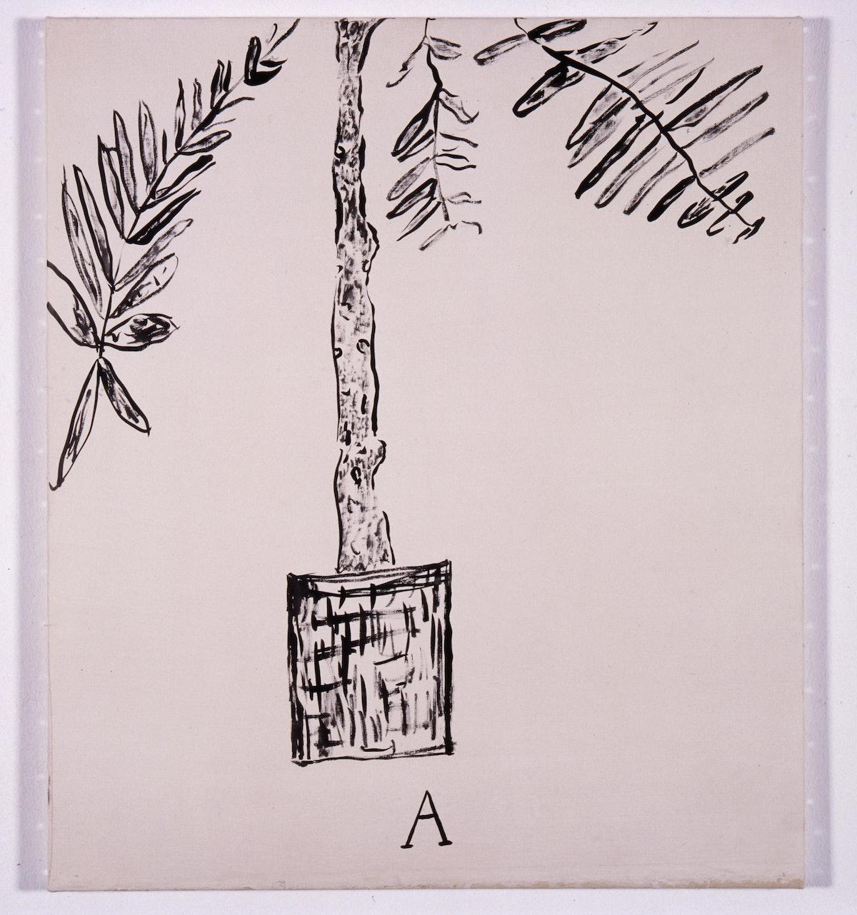 Palmier A encre de chine sur toile 69x61cm 1974.jpg