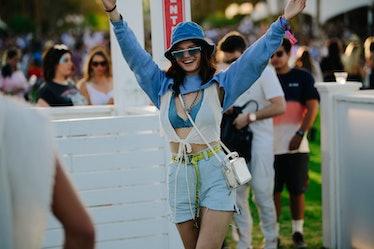 A joyous Coachella attendee