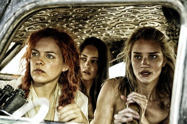 MAD MAX: FURY ROAD, from left: Riley Keough, Courtney Eaton, Rosie Huntington-Whiteley, 2015. ph: