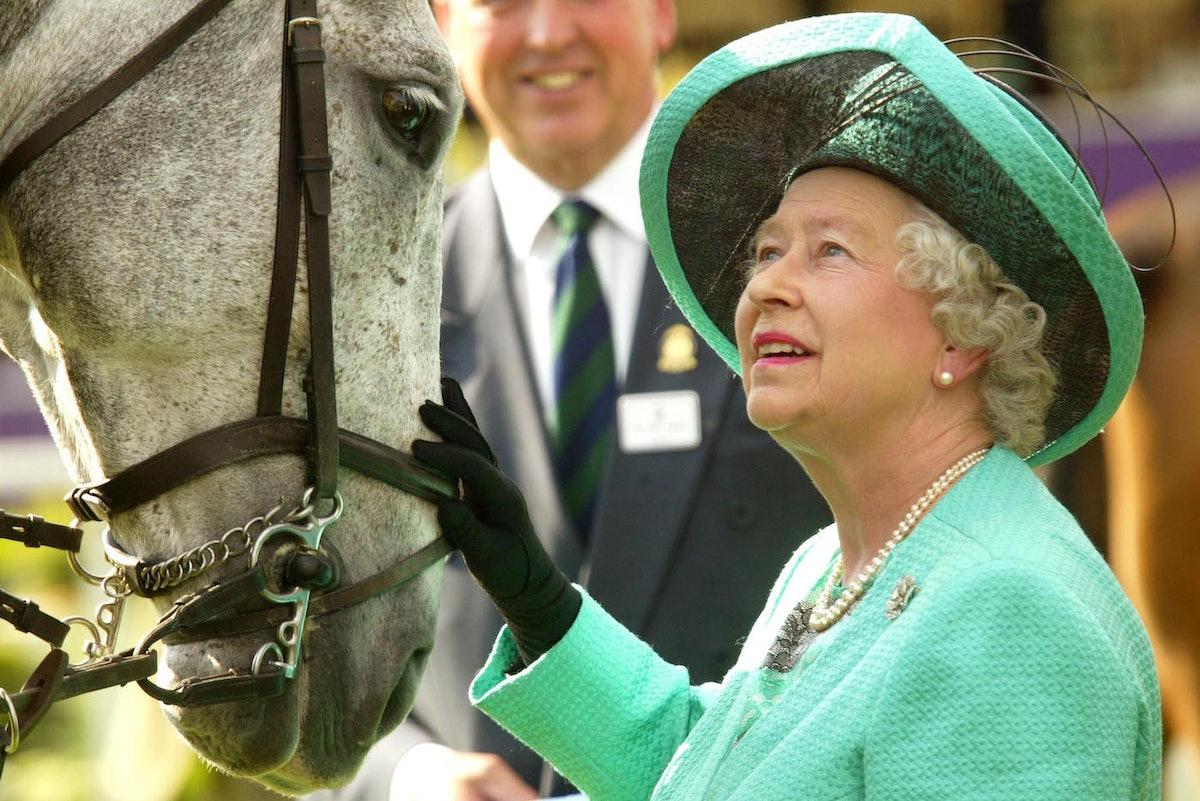 Queen Elizabeth II with a horse