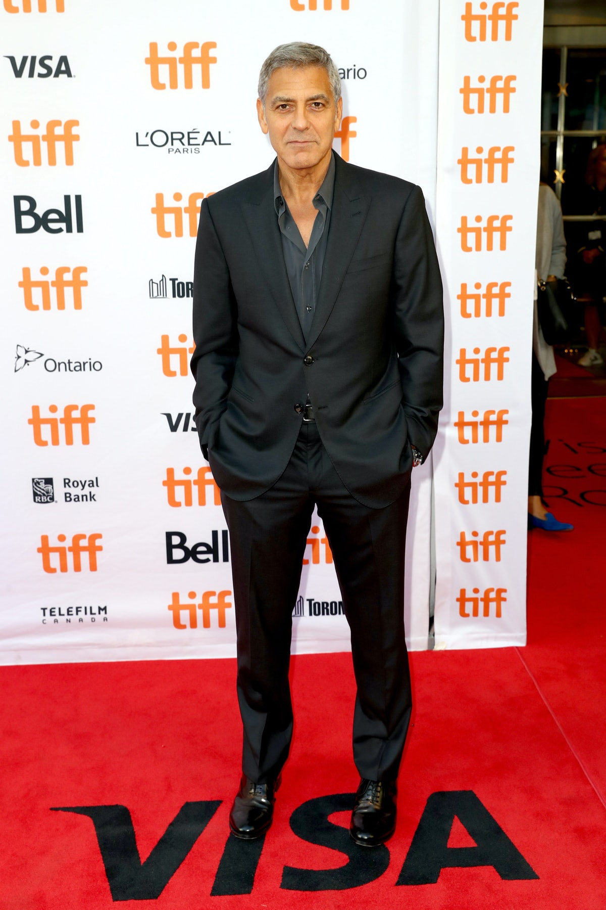 George Clooney in a black suit
