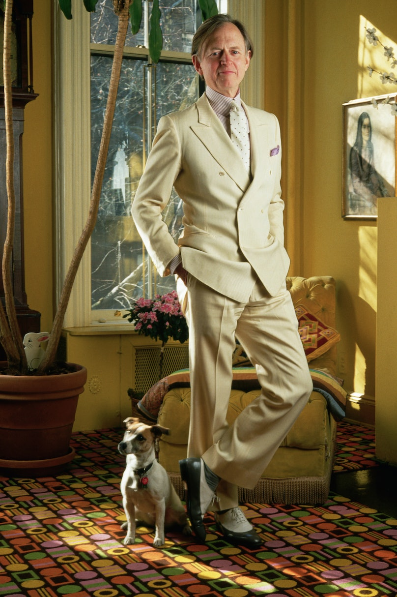 Novelist Tom Wolfe in his Home