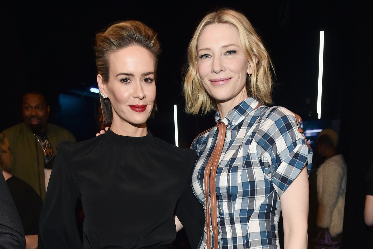 Cate Blanchett Sits on Sarah Paulson