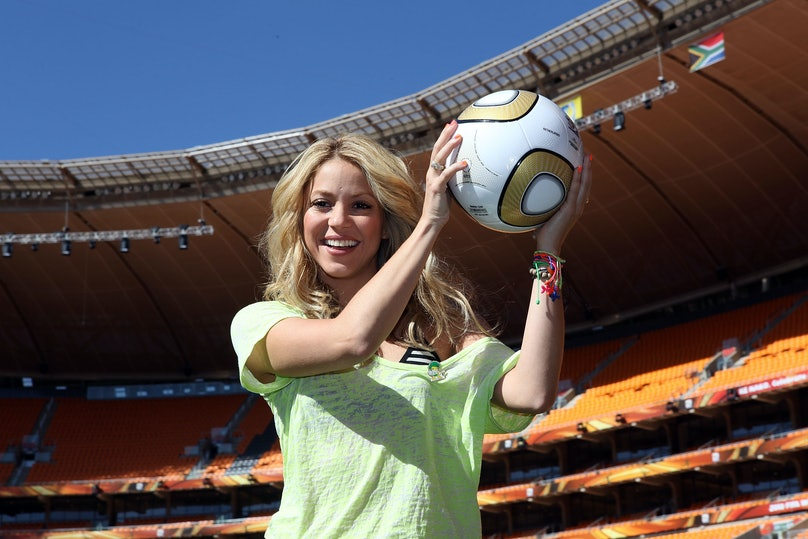 Shakira Attends FIFA Media Briefing-2010 FIFA World Cup