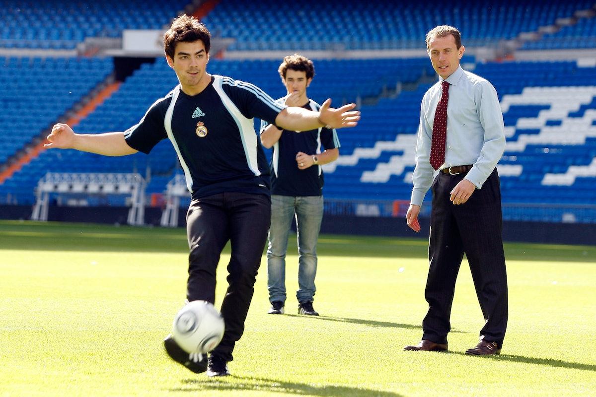 Jonas Brothers Visit Santiago Bernabeu