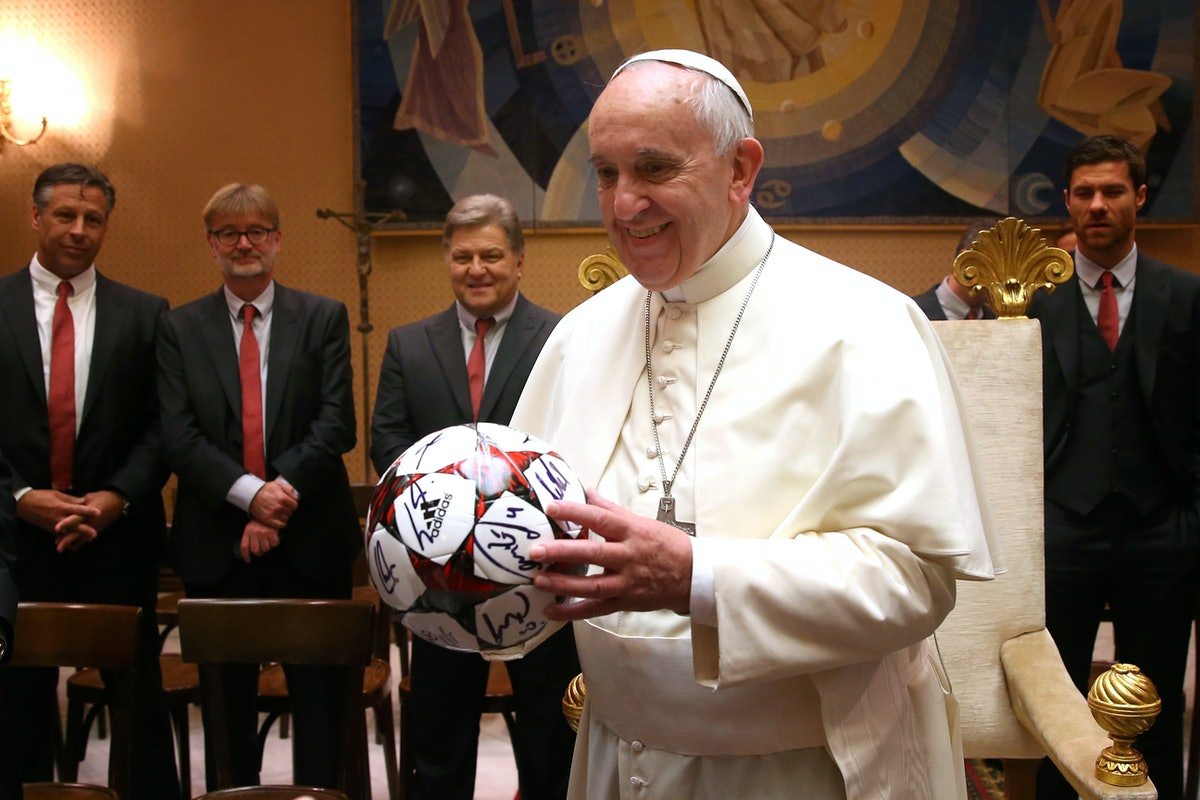Bayern Munich private audience with Pope Francis