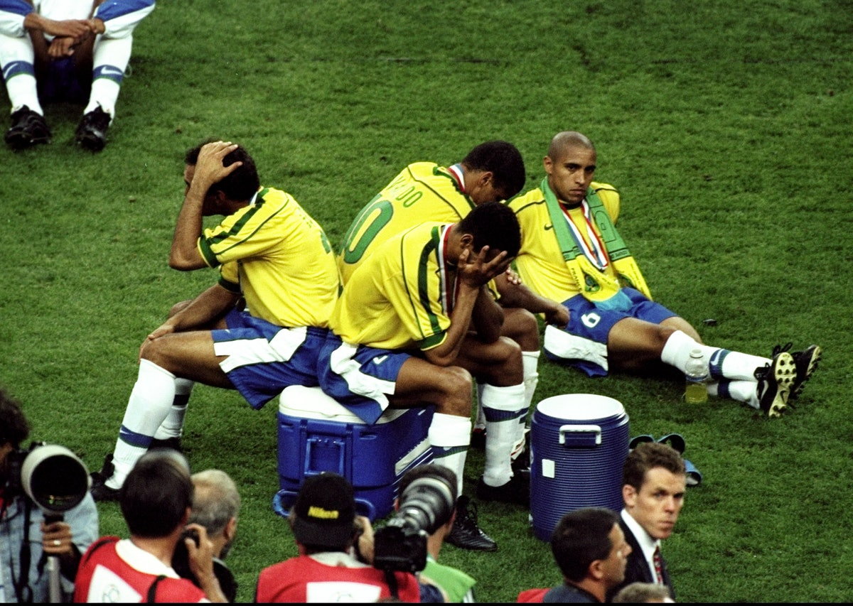 Edmundo, Rivaldo, Cafu and Roberto Carlos