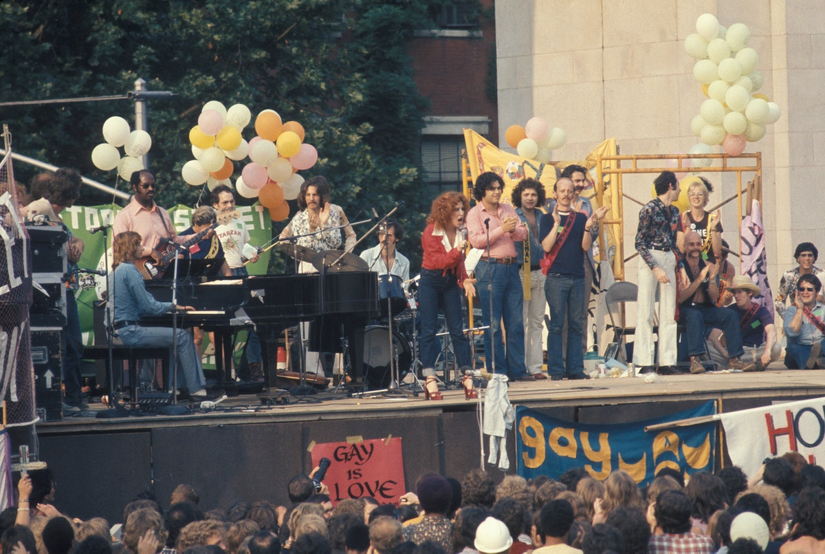 Barry Manilow And Bette Midler At Gay Liberation Rally