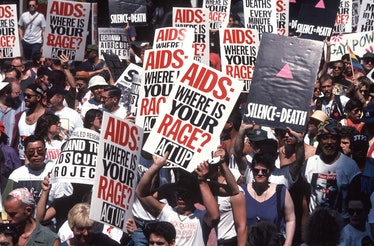 Act Up Demo protesting AIDS epidemic