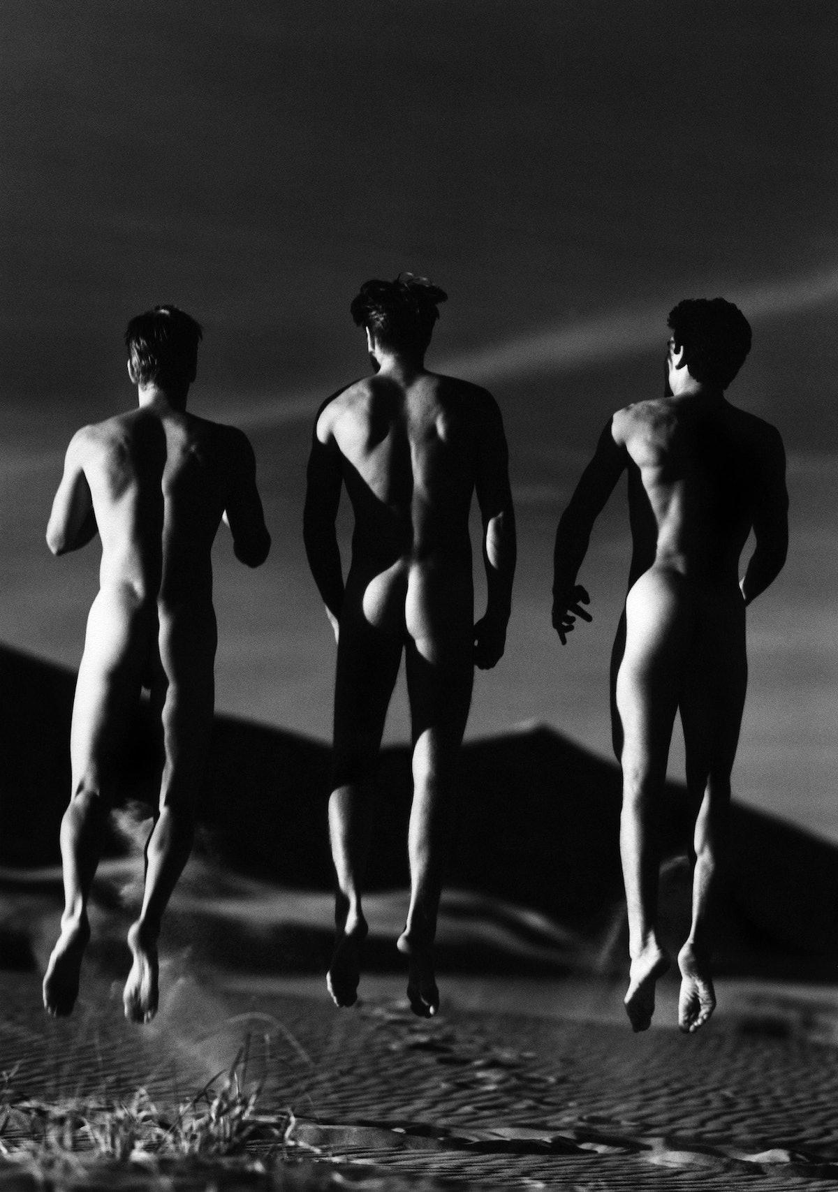 3 Boys Jumping, Kelso Dunes, 1991 © Greg Gorman.jpg