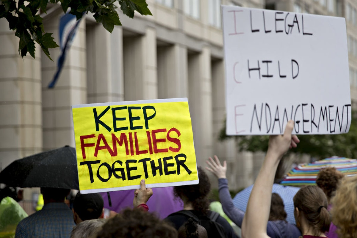 Protests At ICE Headquarters As Judge Orders Immigrant Families To Be Reunited
