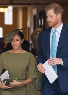 Meghan Markle Debuted A New Hairstyle lead